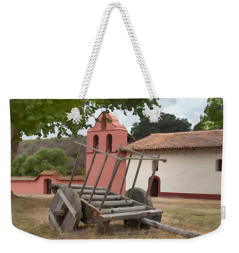 Wagon Weekender Tote Bag featuring the digital art Mission Wagon by Sharon Foster