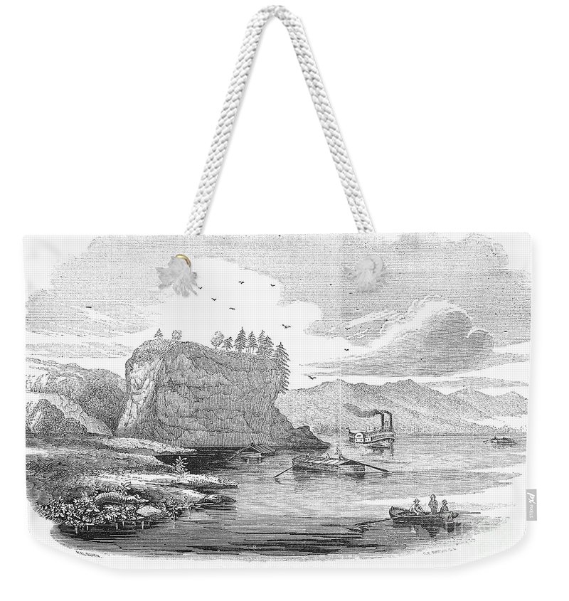 1854 Weekender Tote Bag featuring the photograph Mississippi River, 1854 by Granger