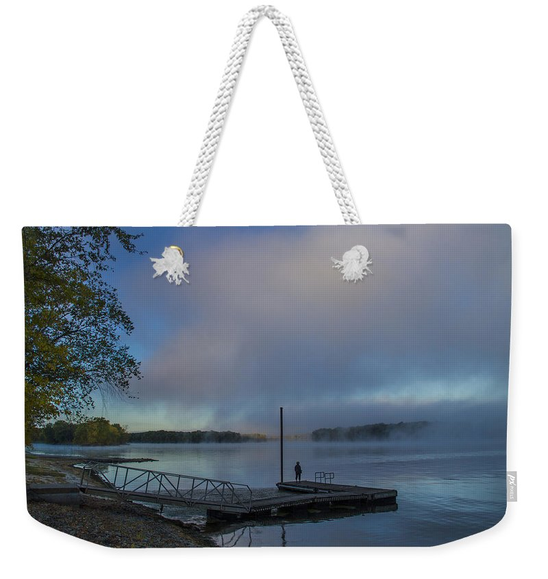 Mississippi River Weekender Tote Bag featuring the photograph Mississippi River In Wisconsin by Garry McMichael