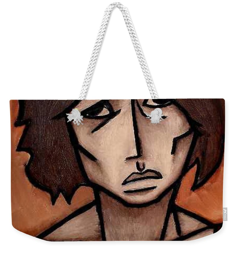 Potrait Weekender Tote Bag featuring the painting Missy by Thomas Valentine