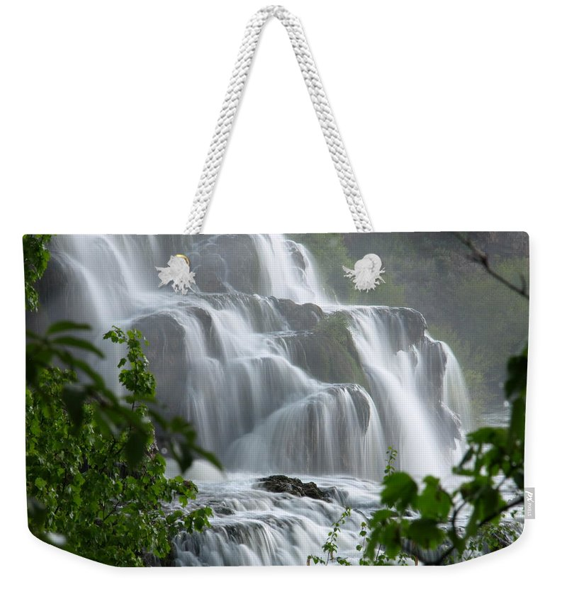 Waterfalls Weekender Tote Bag featuring the photograph Misty Falls by DeeLon Merritt