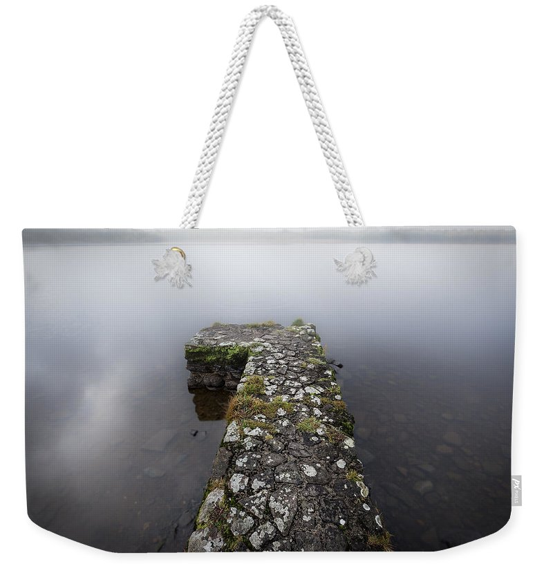 Mist Weekender Tote Bag featuring the photograph Misty Lough Erne by Nigel R Bell