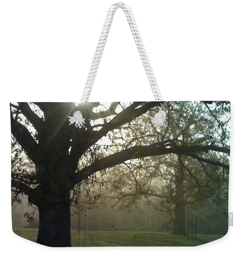 Mist Weekender Tote Bag featuring the photograph Misty Morning by Nadine Rippelmeyer