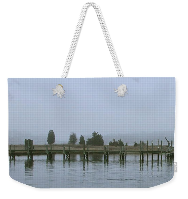 Fog Weekender Tote Bag featuring the photograph Misty Morning by Rick Monyahan