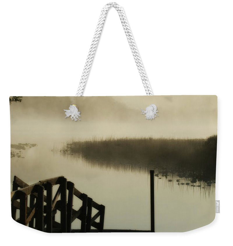 Oregon Weekender Tote Bag featuring the photograph Misty Oregon Morning by Renee Hong