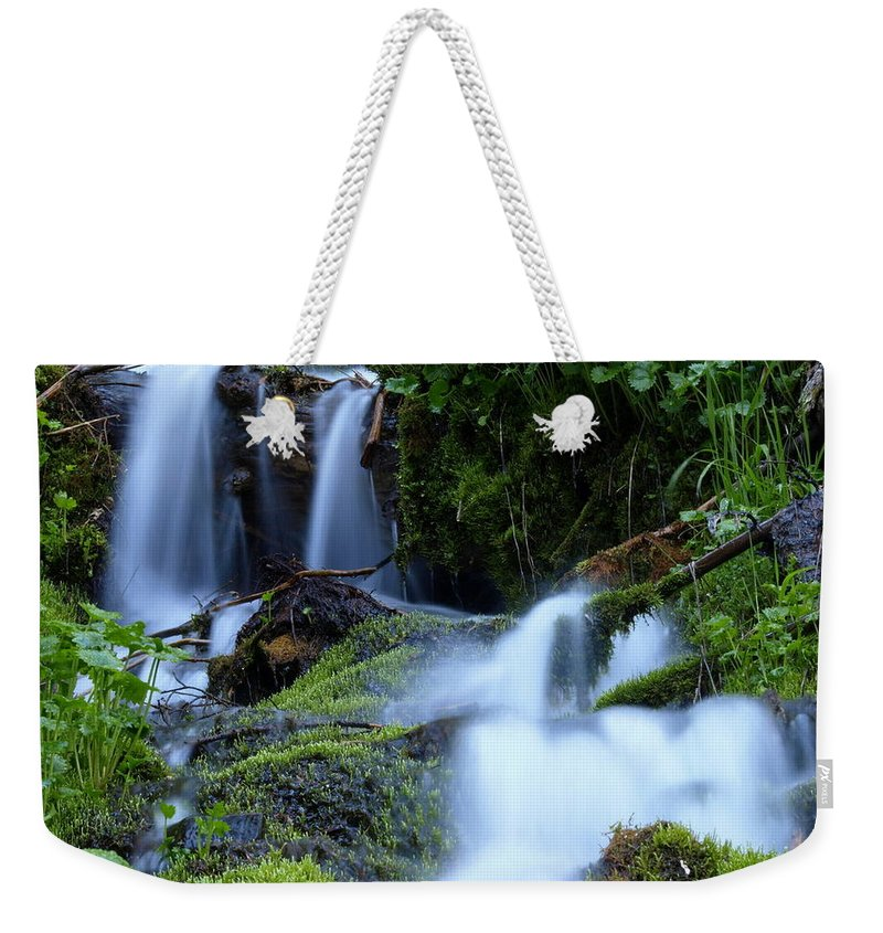 Water Weekender Tote Bag featuring the photograph Misty Waters by DeeLon Merritt