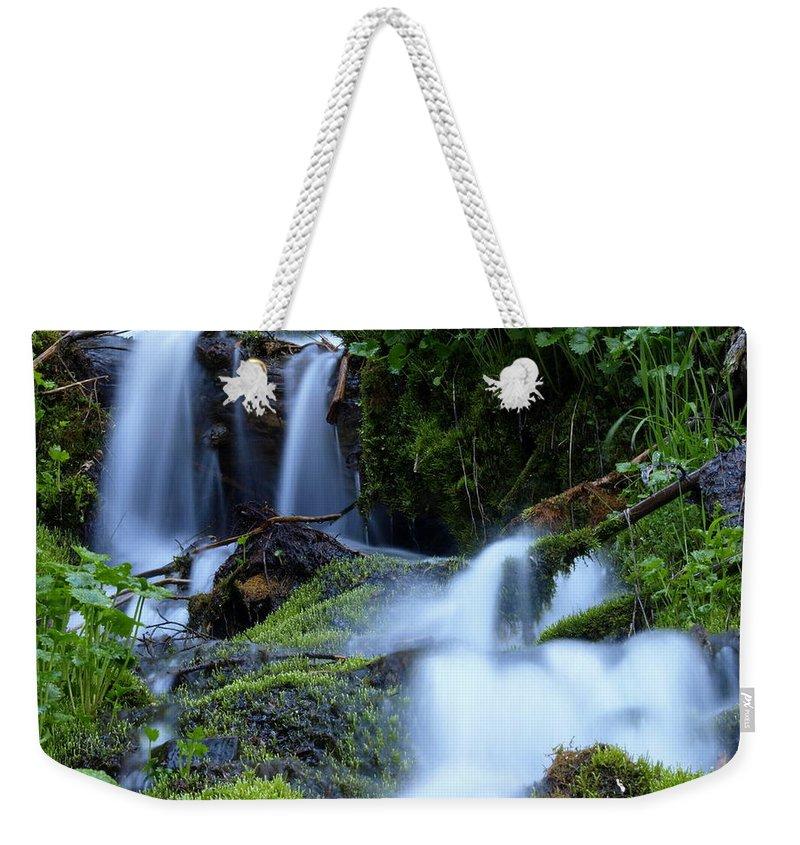 Water Weekender Tote Bag featuring the photograph Misty Waters by DeeLon Merritt