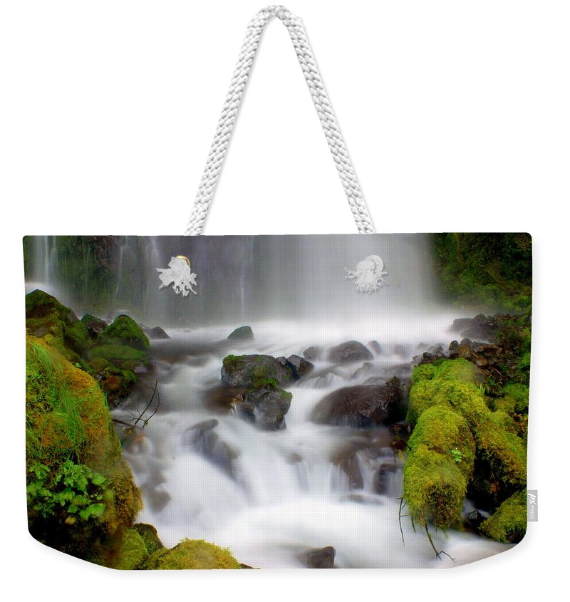 Waterfall Weekender Tote Bag featuring the photograph Misty Waters by Marty Koch