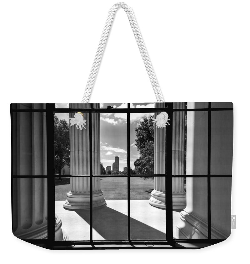Boston Weekender Tote Bag featuring the photograph Mit To Prudential by Greg Fortier