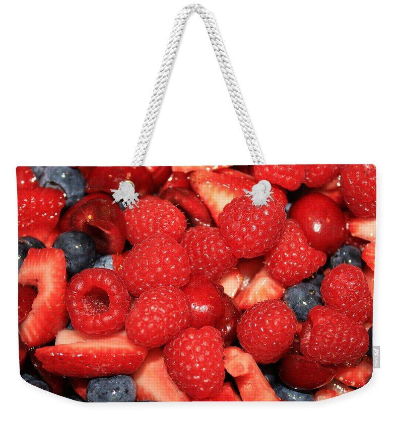 Ffood And Beverage Weekender Tote Bag featuring the photograph Mixed Berries by Carol Groenen