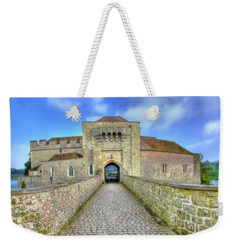 Leeds Castle Weekender Tote Bag featuring the photograph Moat House Leeds Castle by Chris Thaxter