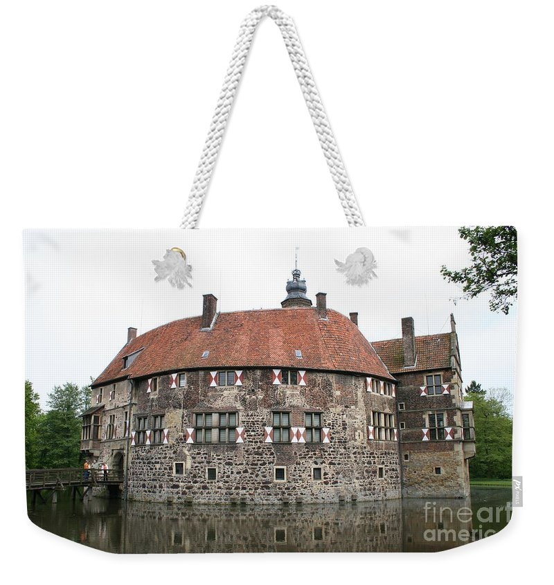 Castle Weekender Tote Bag featuring the photograph Moated Castle Vischering by Christiane Schulze Art And Photography