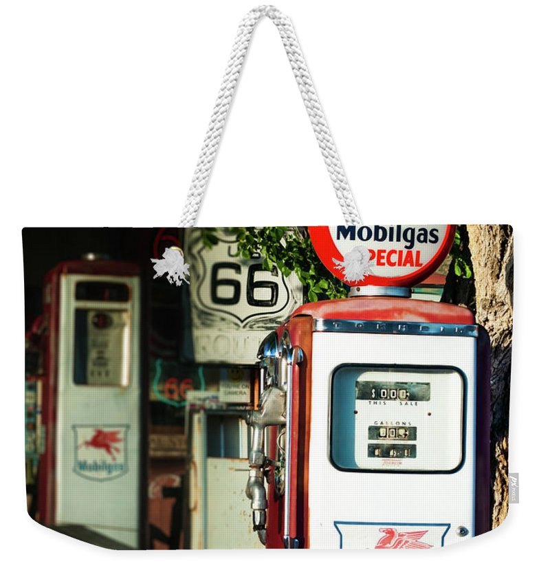 Mobilgas Weekender Tote Bag featuring the photograph Mobilgas Special by Michelle Rollins