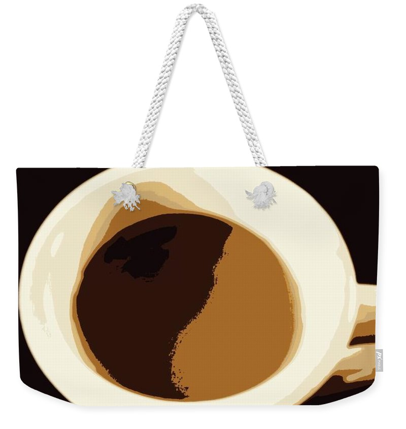 Coffee Weekender Tote Bag featuring the photograph Mocha by Kathy Barney