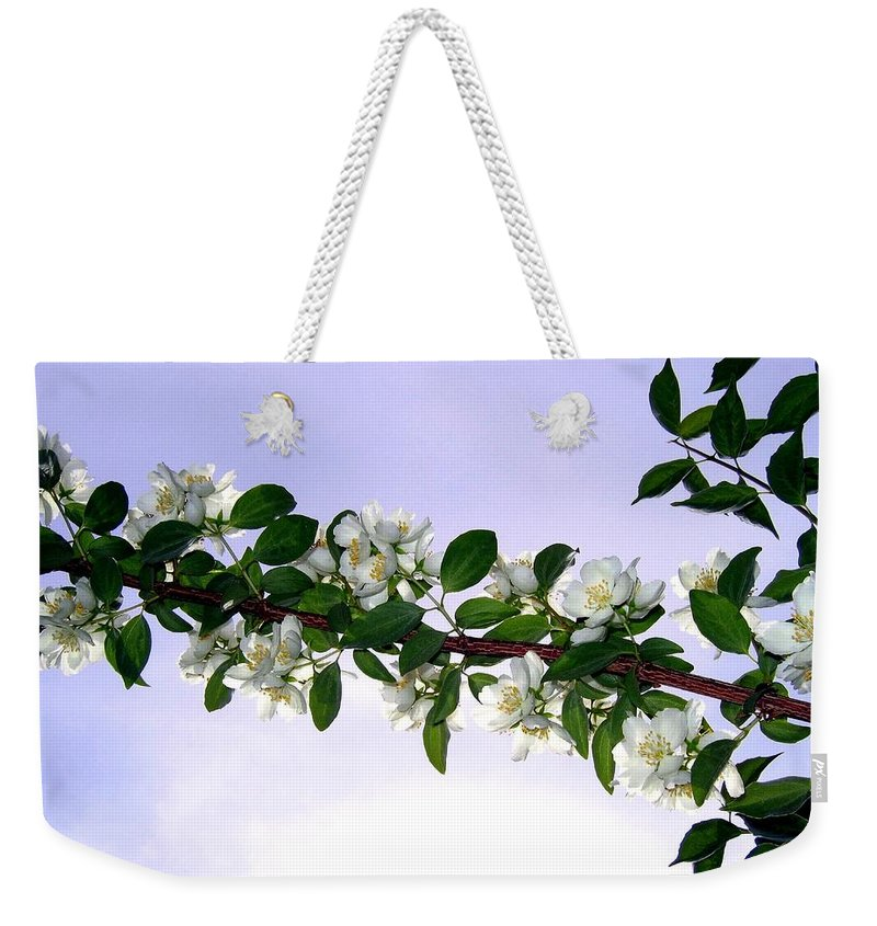 Mock Orange Weekender Tote Bag featuring the photograph Mock Orange by Will Borden