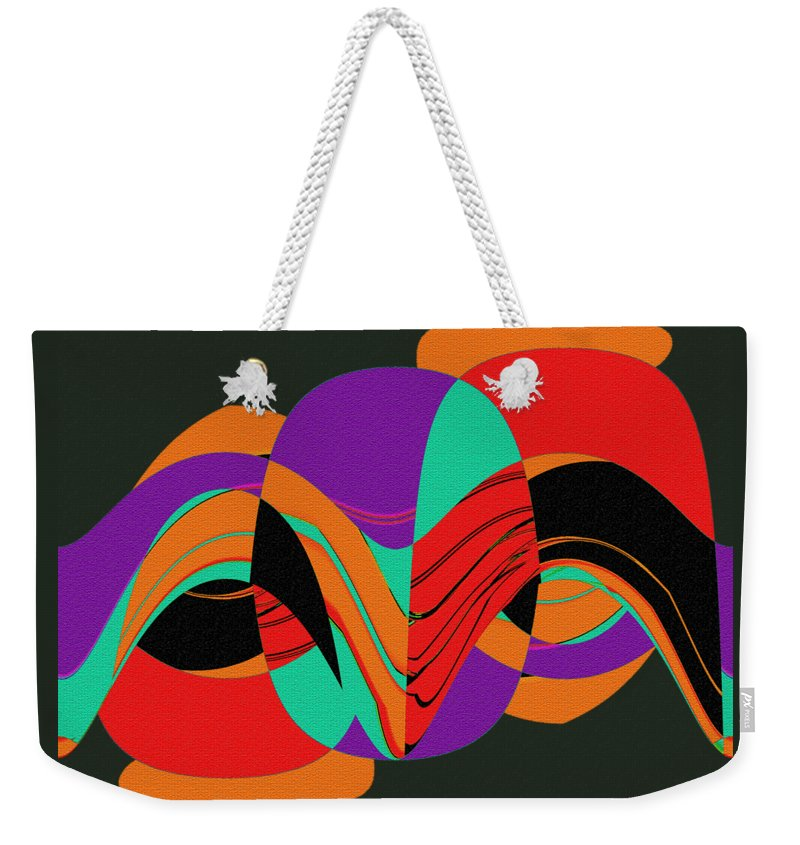 Modern Art 2 Weekender Tote Bag featuring the painting Modern Art 2 by Methune Hively