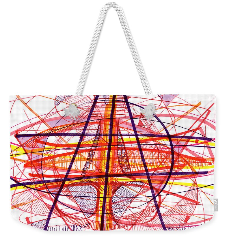 Modern Drawing Weekender Tote Bag featuring the drawing Modern Drawing Eighty-five by Lynne Taetzsch