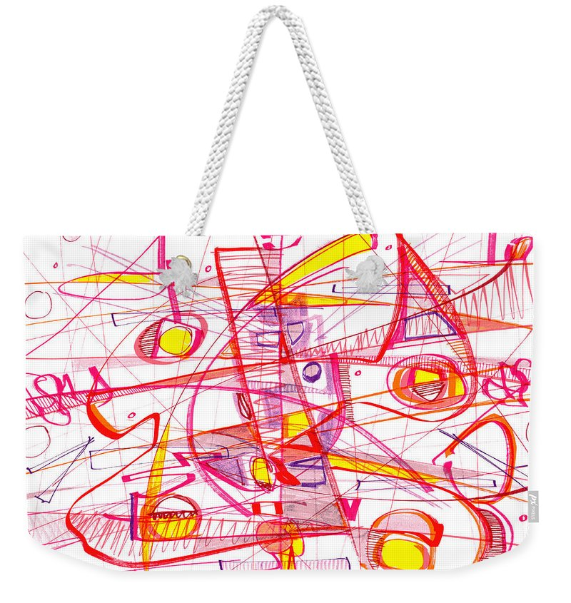 Modern Drawing Weekender Tote Bag featuring the drawing Modern Drawing Eighty-three by Lynne Taetzsch