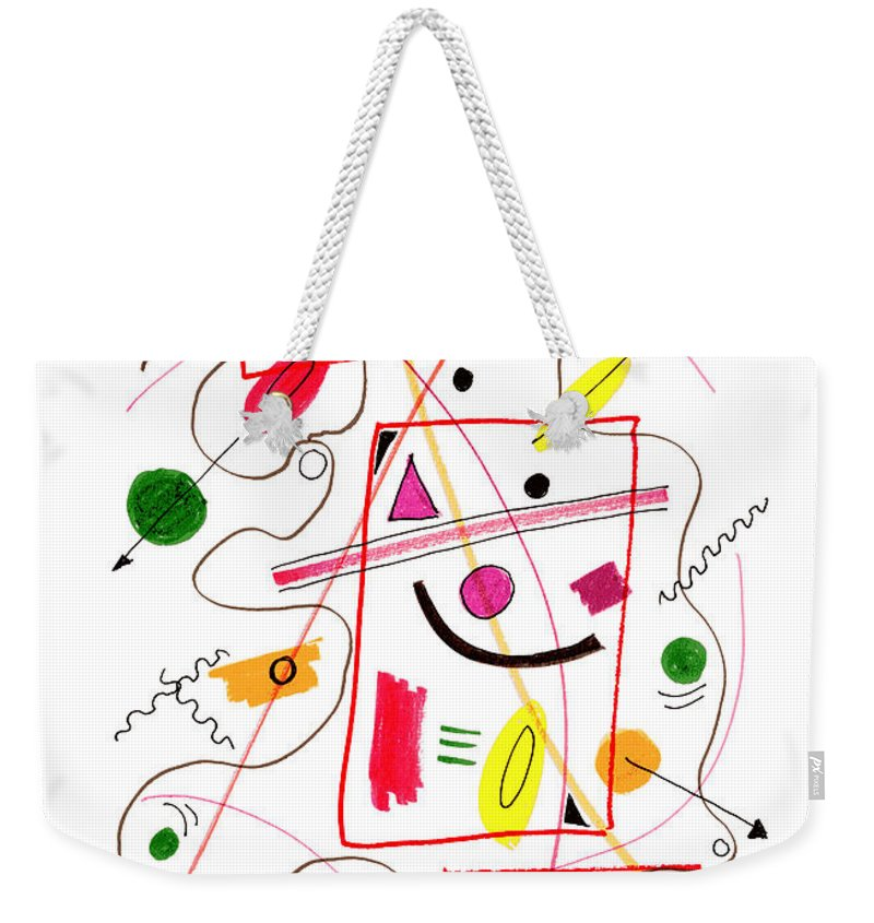 Modern Art Weekender Tote Bag featuring the drawing Modern Drawing Fifty-six by Lynne Taetzsch