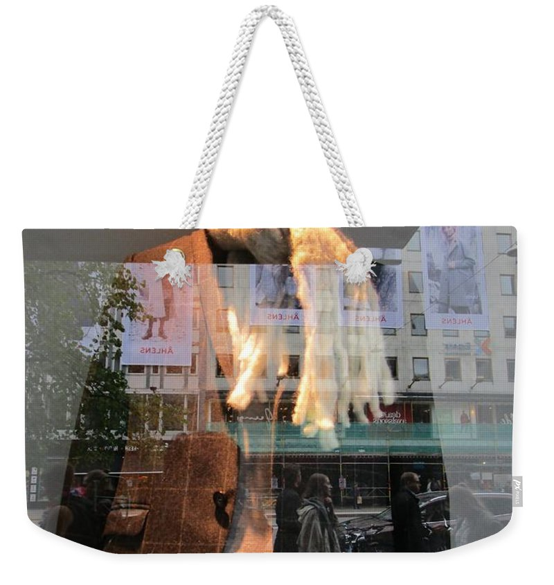 Anonymous Weekender Tote Bag featuring the photograph Modern Man by Rosita Larsson