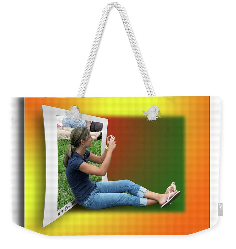 2d Weekender Tote Bag featuring the photograph Modern Technology by Brian Wallace