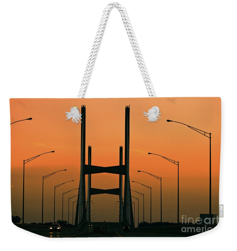 Abstract Weekender Tote Bag featuring the photograph Modified Suspension Infrared by Alan Look