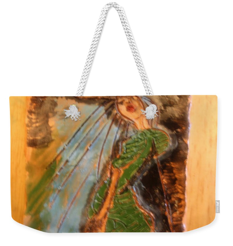 Jesus Weekender Tote Bag featuring the ceramic art Modupe - Tile by Gloria Ssali