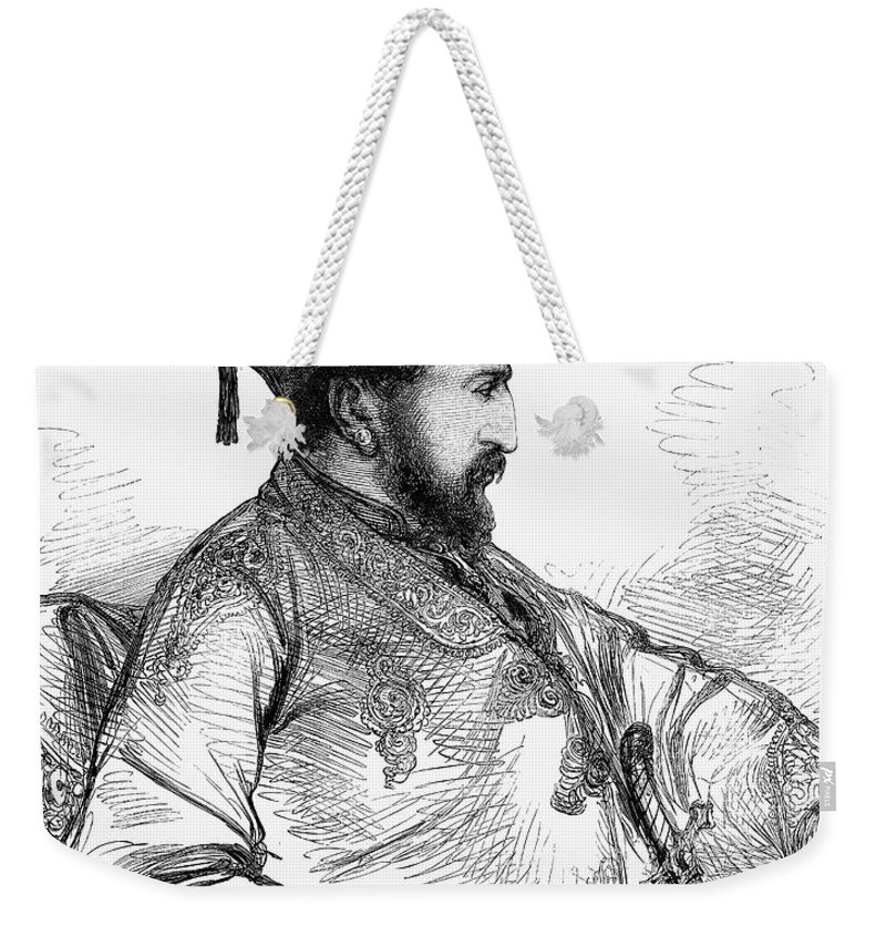 1879 Weekender Tote Bag featuring the photograph Mohammed Yakub Khan by Granger