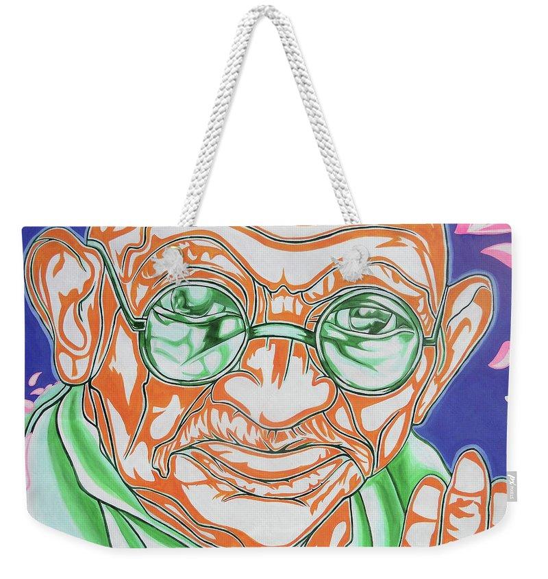 Graffiti Weekender Tote Bag featuring the photograph Mohandas Karamchand Gandhi by Juergen Weiss
