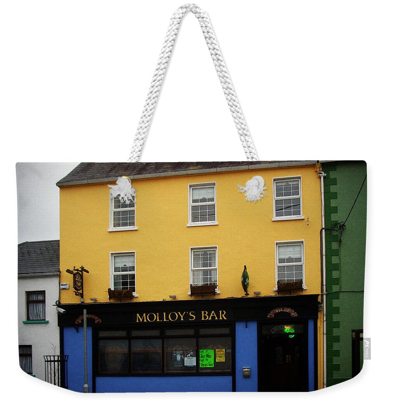 Pub Weekender Tote Bag featuring the photograph Molloy by Tim Nyberg