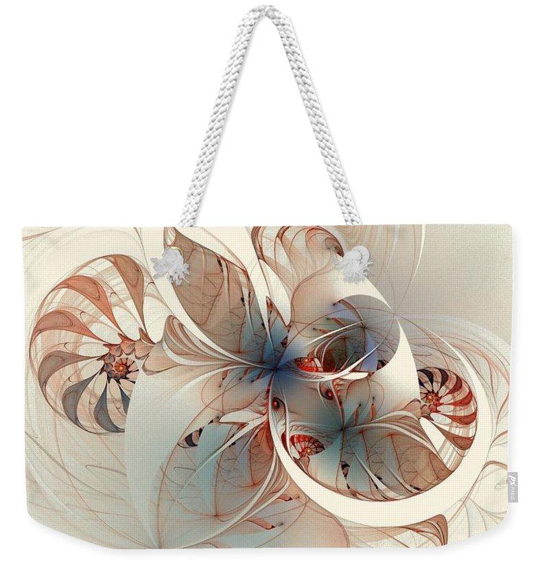 Weekender Tote Bag featuring the digital art Mollusca by Amanda Moore