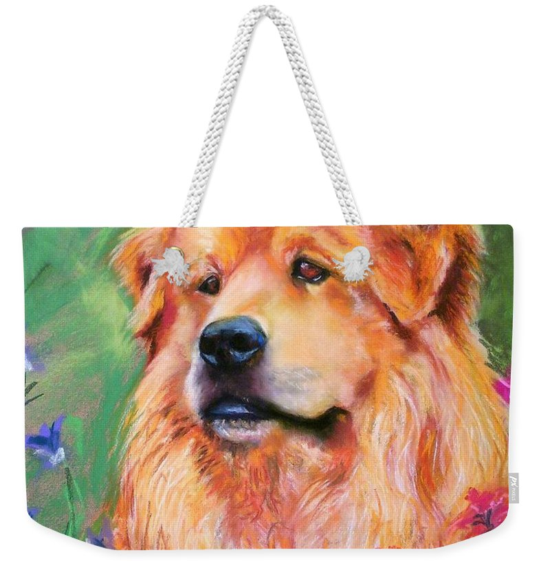 Chow Weekender Tote Bag featuring the painting Molly by Frances Marino