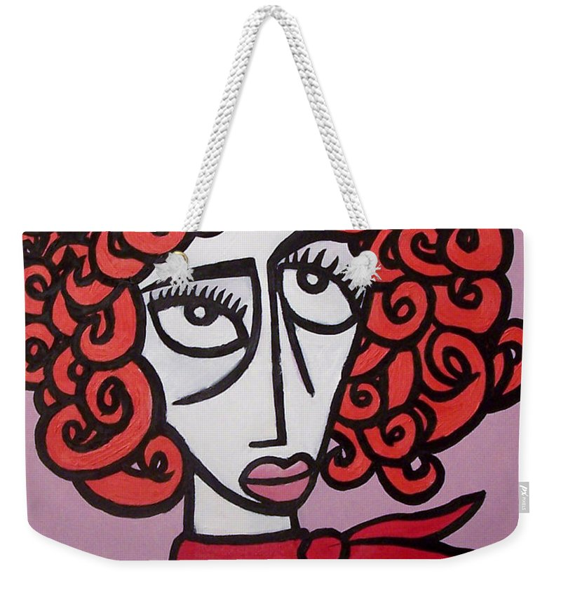 Portaits Weekender Tote Bag featuring the painting Molly by Thomas Valentine