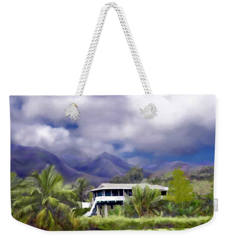 Hawaii Weekender Tote Bag featuring the photograph Moloa A Bay Hideaway by Kurt Van Wagner