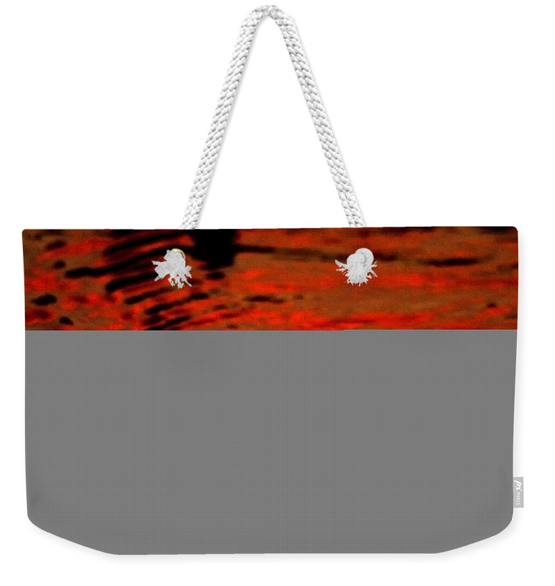 Water Weekender Tote Bag featuring the photograph Molten Lava by Donna Blackhall