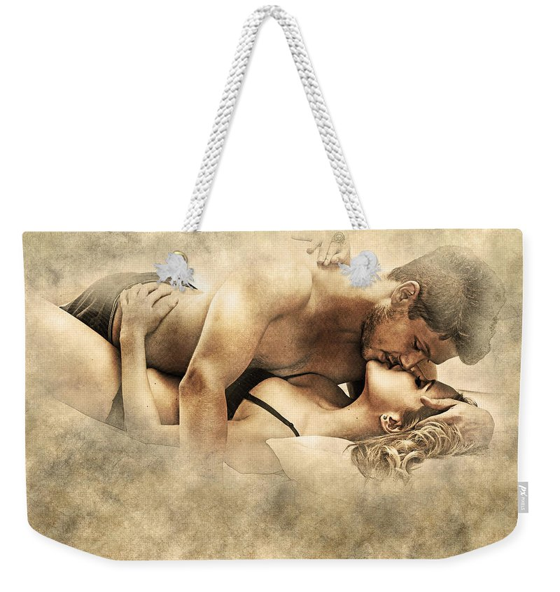Home Art Weekender Tote Bag featuring the digital art Moments by Don Kuing