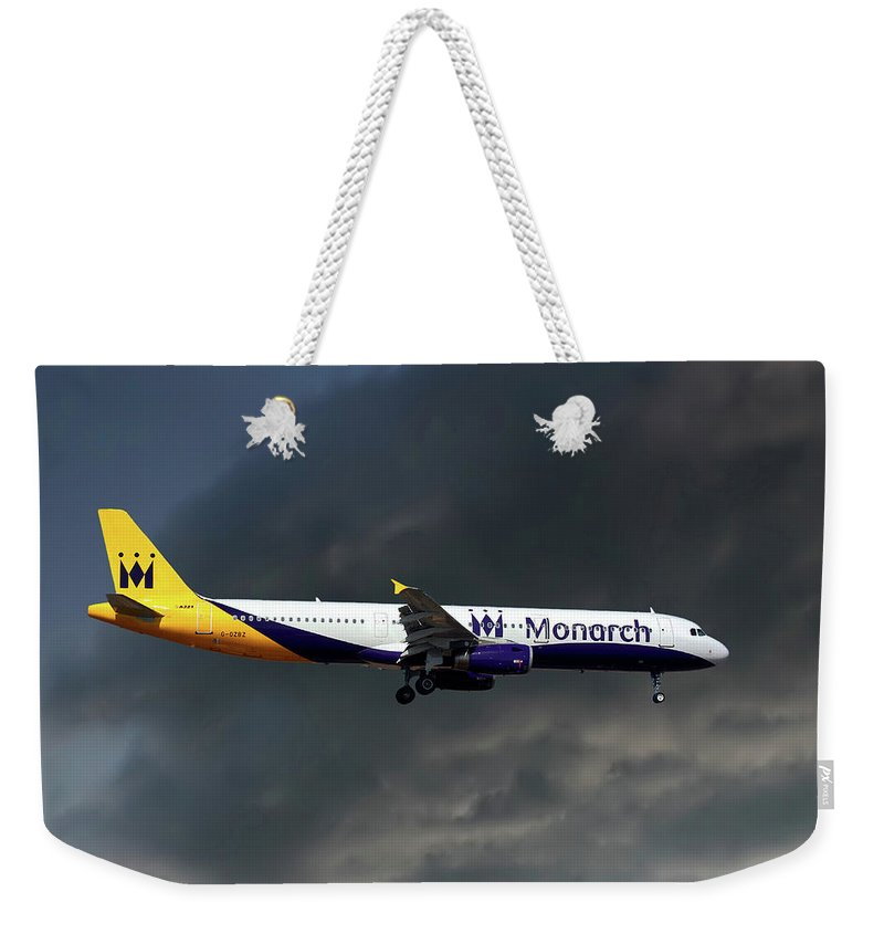 Monarch Airlines Weekender Tote Bag featuring the photograph Monarch Airlines Airbus A321-231 by Smart Aviation