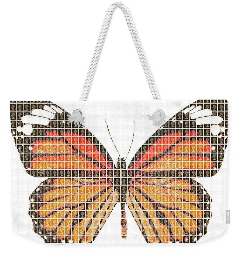 Monarch Weekender Tote Bag featuring the painting Monarch by Gary Hogben