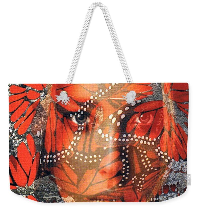 Butterfly Weekender Tote Bag featuring the digital art Monarch Moment by Seth Weaver