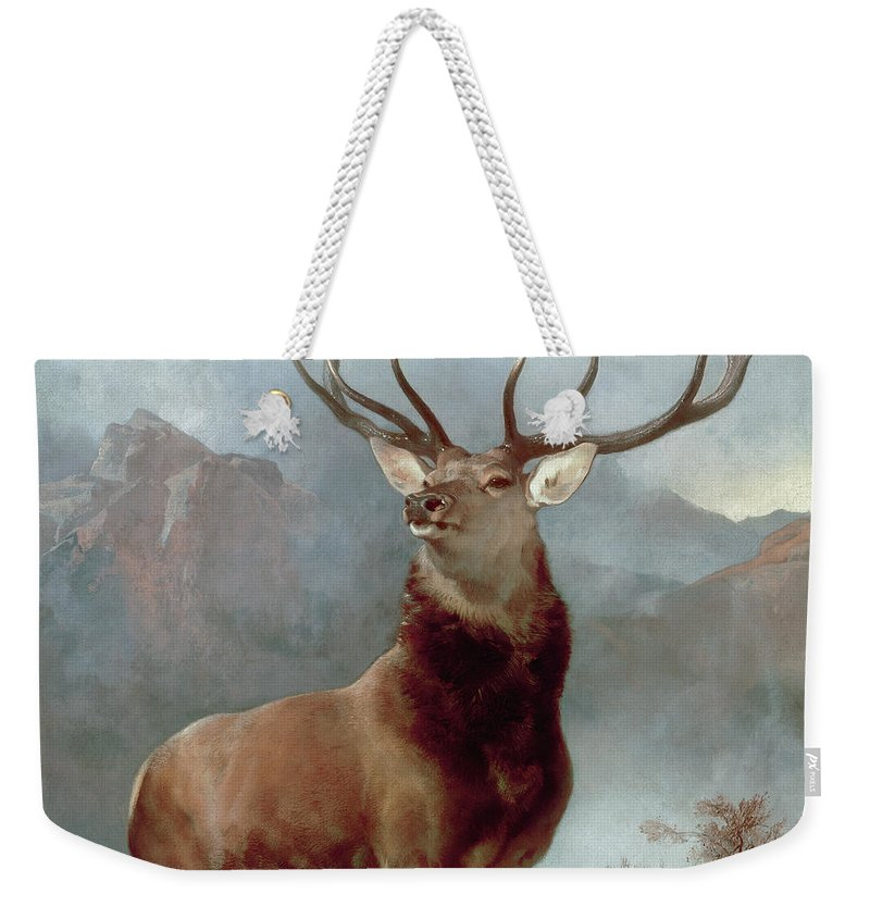 Monarch Weekender Tote Bag featuring the painting Monarch Of The Glen by Sir Edwin Landseer