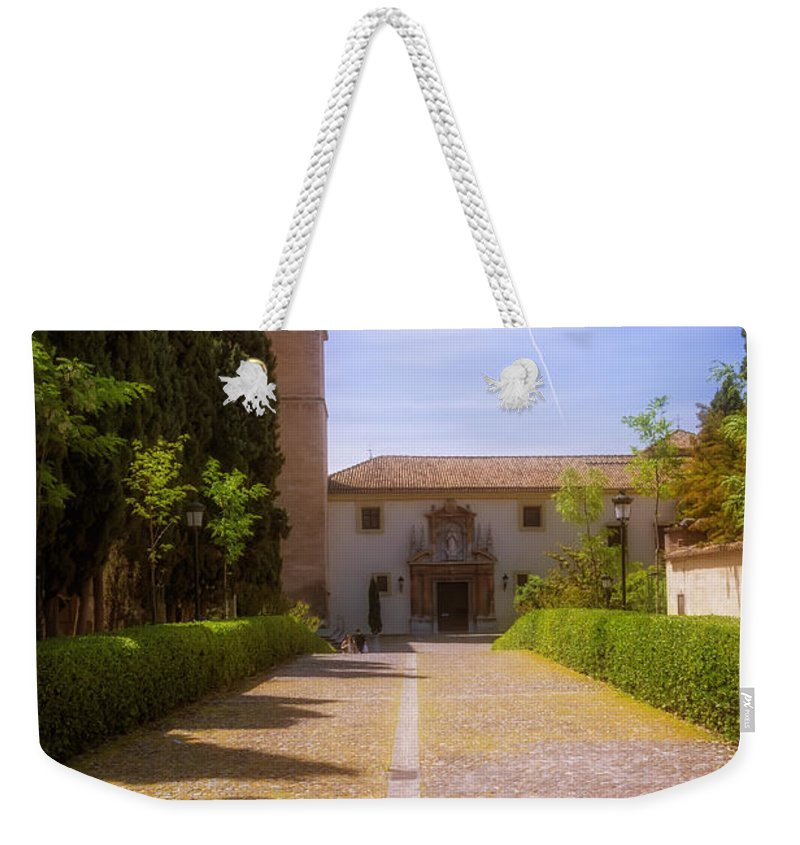 Joan Carroll Weekender Tote Bag featuring the photograph Monastery Of Saint Jerome Approach by Joan Carroll
