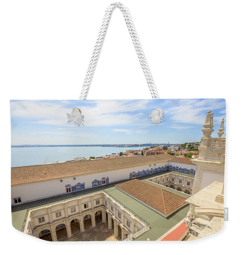 Lisbon Weekender Tote Bag featuring the photograph Monastery Of Sao Vicente Of Fora by Benny Marty