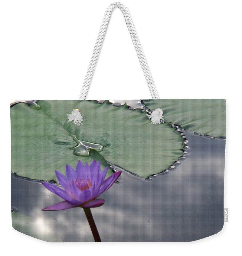 Photograph Weekender Tote Bag featuring the photograph Monet Lily Pond Reflection by Eric Schiabor