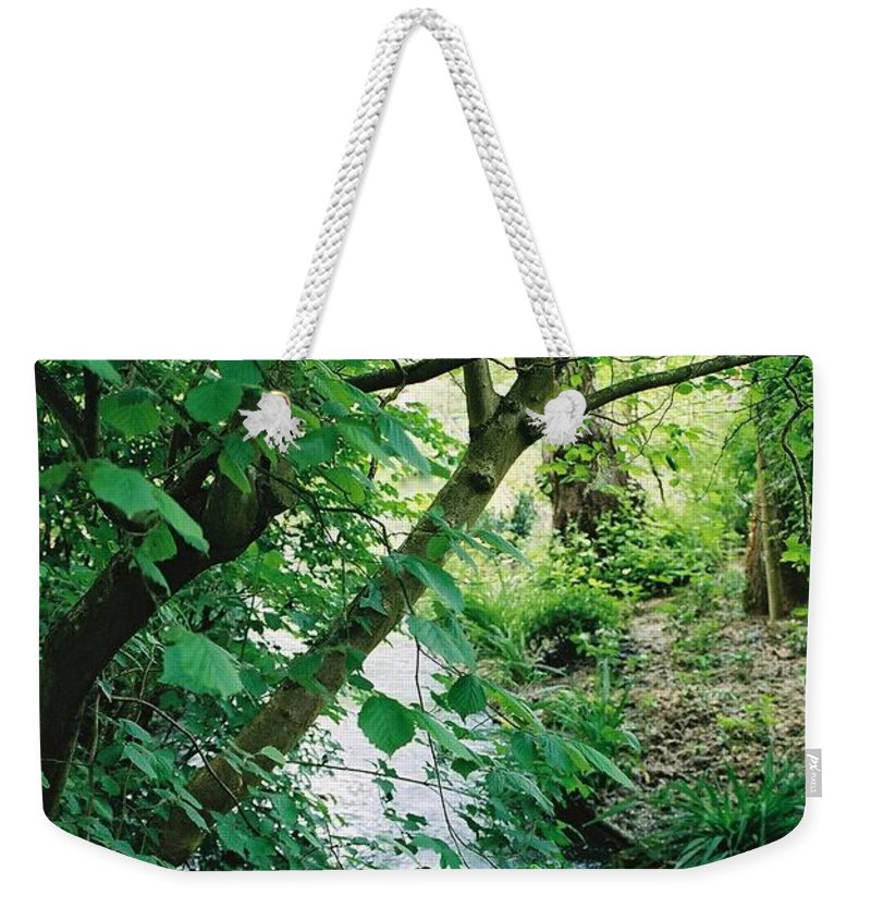 Photography Weekender Tote Bag featuring the photograph Monet's Garden Stream by Nadine Rippelmeyer