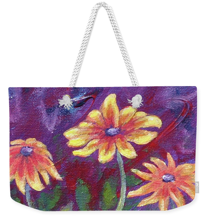 Small Acrylic Painting Weekender Tote Bag featuring the painting Monet's Small Composition by Jennifer McDuffie