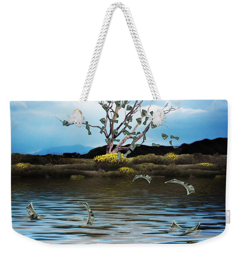 Money Tree Weekender Tote Bag featuring the photograph Money Tree On A Windy Day by Gravityx9  Designs
