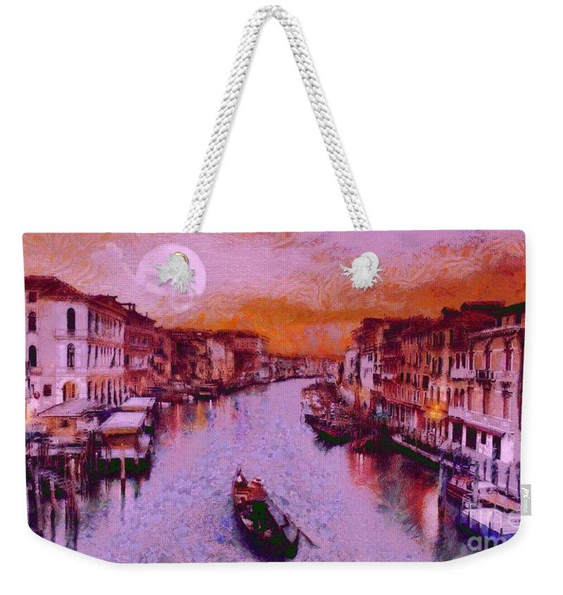 Monkey Painted Italy Again Weekender Tote Bag featuring the painting Monkey Painted Italy Again by Catherine Lott