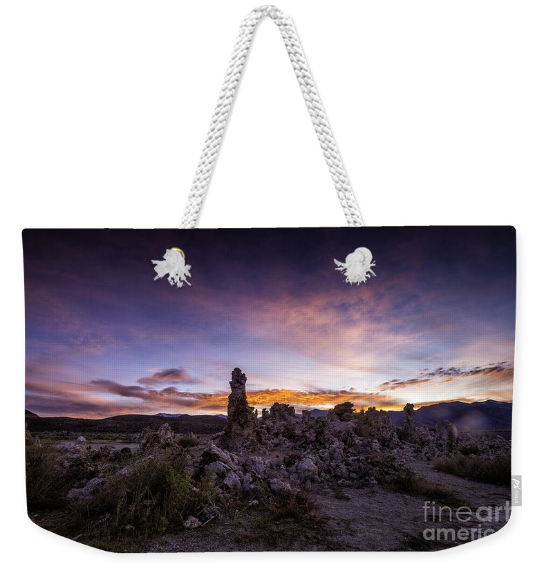 California Weekender Tote Bag featuring the photograph Mono Lake Sunset 5 by Timothy Hacker