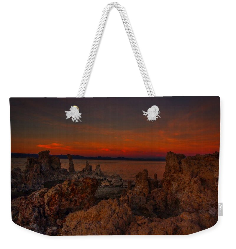 Mono Lake Weekender Tote Bag featuring the photograph Mono Lake Sunset by Michele James