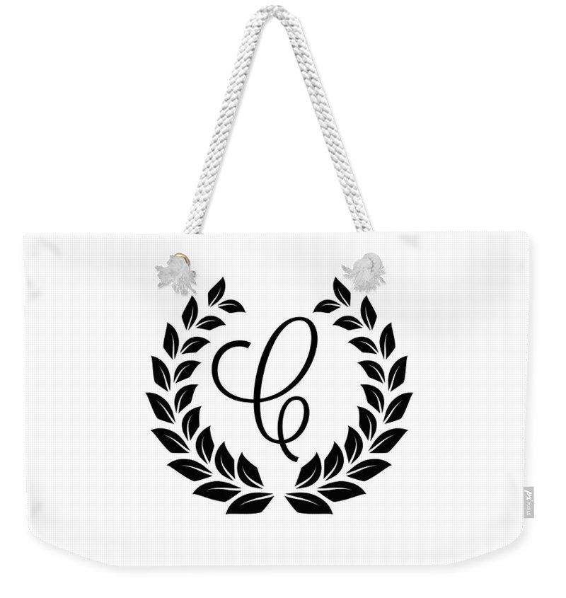 Monogram C Weekender Tote Bag featuring the digital art Monogram C by Chastity Hoff